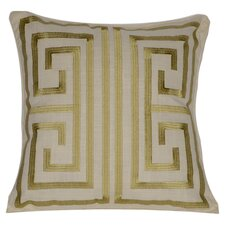 Catalina Cotton Decorative Pillow in Taupe & Gold