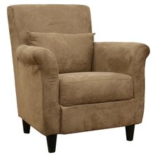 Baxton Arm Chair in Tan