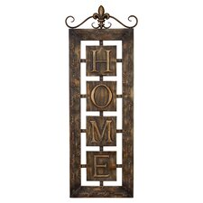 Toscana Metal Wall Home Plaque in Gold