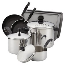 Classic Stainless 10 Piece Cook & Strain Cookware Set