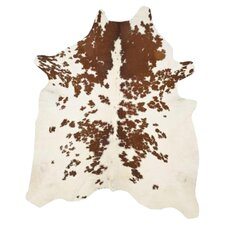 "Alexander Cow Hide Brown & White 6'6"" x 4'6"" Rug"