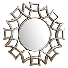 Starburst Wall Mirror in Silver
