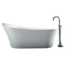 Rachel Freestanding Slipper Tub in White