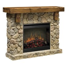 Fieldstone Electric Fireplace in Natural