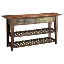 Courtland Console Table in Distressed Brown