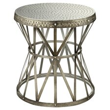 Ruffner Round End Table in Antique Nickel