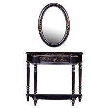 Maribeth Console Table & Mirror in Black