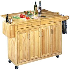 Wood Top Kitchen Cart in Natural II