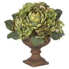 Artichoke Flower Arrangement in Green