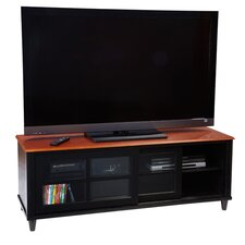 "French Country 60"" TV Stand in Black & Cherry"