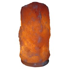 Himalayan Natural Salt Table Lamp in Orange