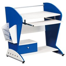 Transition Computer Desk in Blue & White