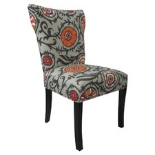 Willard Chair in Light Grey & Orange Sherbert