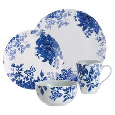 Paula Deen Tatnall Street 4 Piece Dinnerware Set in Blue