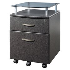 Mobile File Cabinet in Graphite