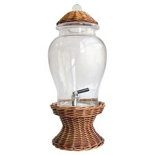 Willow Glass Beverage Dispenser in Brown