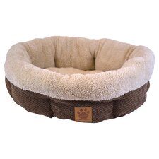 Natural Surroundings Round Dog Bed in Coffee