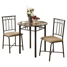 Norton 3 Piece Dining Set in Cappuccino