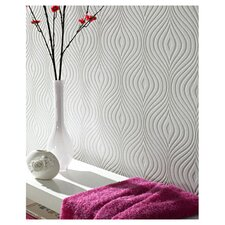 Curvy Wallpaper in White