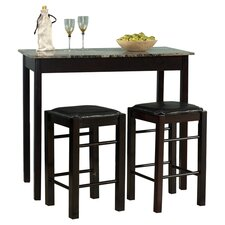 Tavern 3 Piece Dining Set in Espresso
