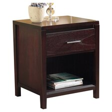 Nevis 1 Drawer Nightstand in Espresso