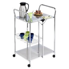 Hopewell Serving Cart in Chrome