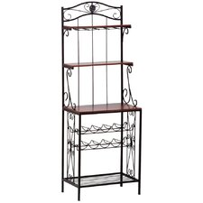 Vintners Baker's Rack in Black