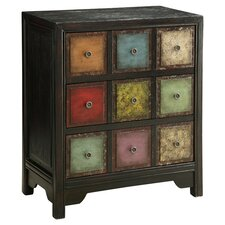 Athena 3 Drawer Chest in Dark Conde