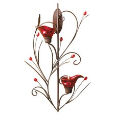 Lily Sconce in Red