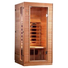 2 Person Infrared Sauna in Light Brown