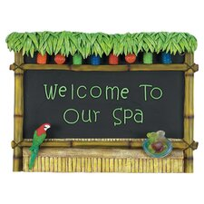 Welcome To Our Spa Tiki Bar Sign