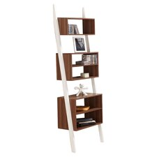 Mateo Bookcase in Walnut and White