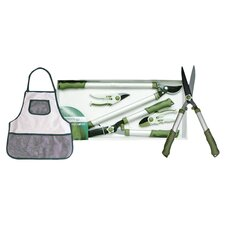 4 Piece Cutting Garden Tool Set in Green