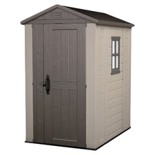 Factor Storage Shed in Taupe & Brown