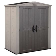 Factor Storage Shed in Taupe