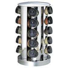20 Bottle Spice Tower in Stainless Steel