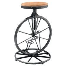 Adjustable Wheel Barstool in Natural