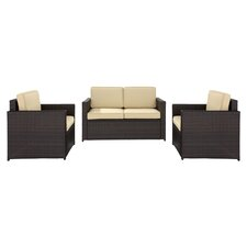 Palm Harbor 3 Piece Seating Group in Brown I with Khaki Cushions