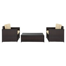 Palm Harbor 3 Piece Seating Group in Brown II with Khaki Cushions