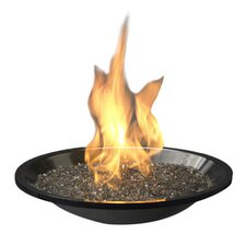 Crystal Fire Burner Insert in Black