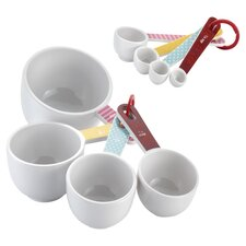 8 Piece Measuring Cup & Spoon Set in White