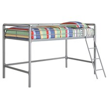 Junior Twin Loft Bed in Silver