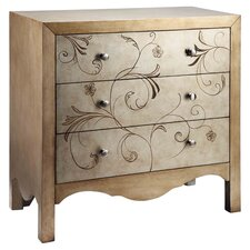Shannon 3 Drawer Accent Chest in Gold