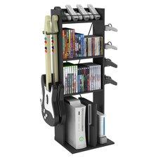 Crane Multimedia Storage Rack in Black