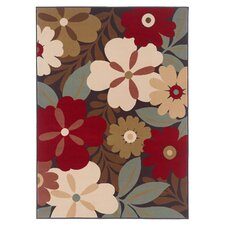 Atenia Floral Charcoal Rug
