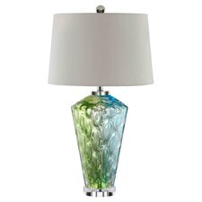Sheffeld Table Lamp in Green & Blue