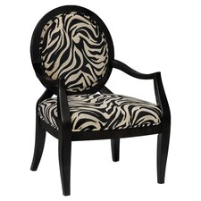 Laurel Arm Chair in Black & White