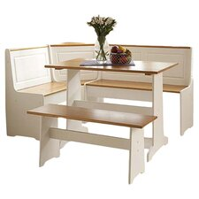 Ardmore 3 Piece Dining Set in Pecan & White