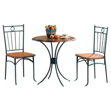 Beaverton 3 Piece Dining Set in Black