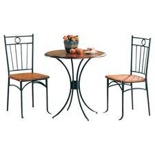 Beaverton 3 Piece Dining Set in Black
